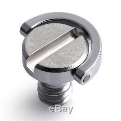 2PCS Neewer 1/4 D-Ring Screw fr Camera Tripod Quick Monopod Quick Release Plate