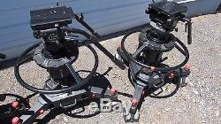 3 Sachtler Video 75 Plus Vario Pedestals withQuick Release Plate and 2 Handles Per