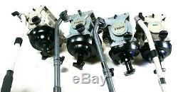 5 Vinten Vision 20 FLUID HEADS CINEMA TEL-PAN BAR PLATE CALIBRATED SERVICED 66Lb