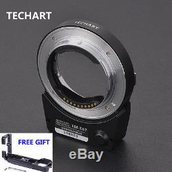 6.0 Version Techart LM-EA7II Auto Foucus Adapter Free Quick Release Plate A7R2