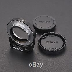6.0 version Techart LM-EA7 II Auto Focus Adapter Free Quick Release plate