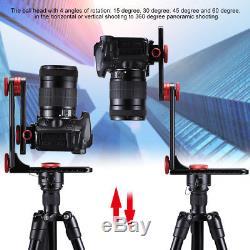 720° Panoramic tripod head ballhead Camera Quick Release Plate With 1/4 screw