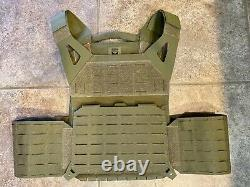 AR500 Invictus Plate Carrier (Olive Drab) with Quick Release + Pouches/Extras