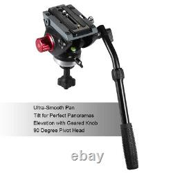 Andoer 170cm Professional Video Camera Tripod with Fluid Head Quick Release Plate