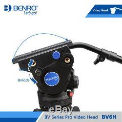 BENRO BV6H Video Head Hydraulic Fluid QR13 Quick Release Plate Aluminum