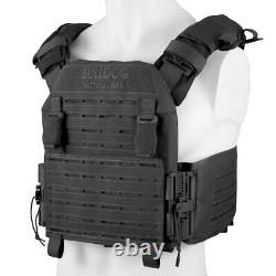 BULLDOG QR KINETIC ARMOR CARRIER Quick Release MOLLE Tactical Plate Vest Black