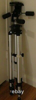 Bogen #3033 Professional Tripod with #3047 3-Way Head and NEW QR Mounting Plate