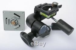 Bogen/Manfrotto 3057 (160) heavy-duty tripod head + 3297 (030L) 4 QR plate