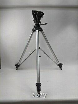 Bogen Manfrotto 3068 Tripod with Manfrotto 116 Head and Plate Vintage