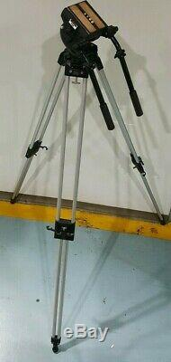Bogen Manfrotto Pro Camera 3191 Tripod 3066 Head with Quick Release Plate