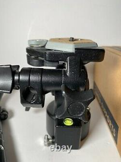 Bogen Manfrotto Tripod Fluid Head Model 3063 with handle & Quick Release Plate