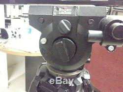 Bogen Manfrotto tripod 3066 fluid video head withPlate 75 Tall 2 Arms
