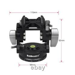 Buddiesman VH-3 II Tripod Head Quick Release Mounting Plate Holder for DSLR