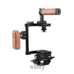 CAMVATE Cage Left Wood Top Handle Grip 15mm Hole Plate Rig For Canon 1200D GH5