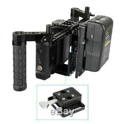 CAMVATE Quick Release Male&Female V-Lock Plate Kit 1/4 Mount for Camera Battery