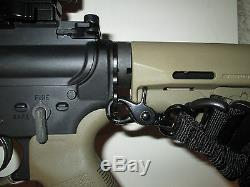 COMBO Single Point AR Sling System with DUAL LOOP Sling Plate NEW BLACK