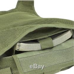 CONDOR MOLLE Nylon Quick Release Plate Carrier Body Armor Vest qpc MULTICAM CAMO