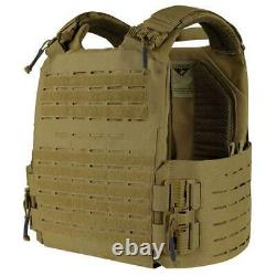 CONDOR VANQUISH RS PLATE CARRIER Quick Release Airsoft MOLLE Armour Vest Coyote