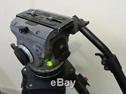 Cartoni Laser Fluid Head Aluminum ENG Tripod 100mm Handle Spreader Plate Case