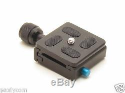 Clamp and QR Quick Release Plate for Tripod Ball Head Camera KS-0 Metal Adapter