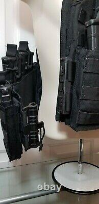 Commander's QUICK RELEASE Tactical Carrier BLACK /Level 3 AR500 PLATES
