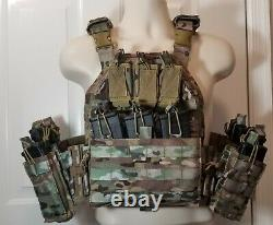 Commander's QUICK RELEASE Tactical Carrier MULTICAM /Level 3 AR500 PLATES