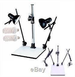 Copy Stand Rostrum LED 71cm Max Height Quick Release Plate DSLR Macro Photo UK