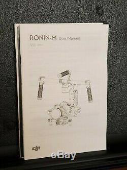 DJI Stabilizer Ronin-M Gimbal, 3 Batts, with NANUK Hard Case & Quick Release Plate