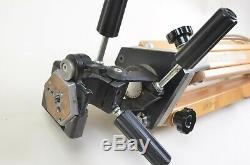 EXC++ ZONE VI WOODEN TRIPOD withBOGEN 3047 HEAD AND QR PLATE