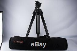E-Image ET-40BAM Professional Aluminum Tripod with EH60 Head NO QR PLATE V14