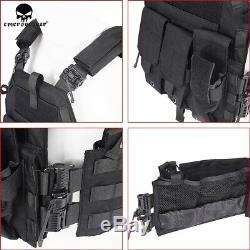 Emerson Tactical LBT 6094K Plate Carrier Quick Release Combat Armor Vest Black