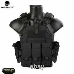 Emerson Tactical LBT 6094K Plate Carrier Vest Quick Release Combat Armor Vest BK