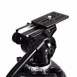 Fancier EI717 Tripod with 360° Fluid Pan Head Kit Quick Release Plate