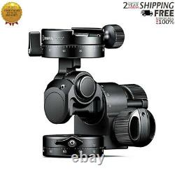 GH-PRO II Geared Panoramic Tripod Head with Quick Release Plate For DSLR Camera