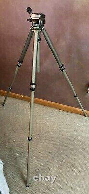 GITZO G 1372 COMPLETE Tripod Head & Legs In Case 75 Height withExtra Parts Plates