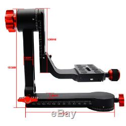 Gimbal Tripod Head 360° Panoramic Head with 100mm Quick Release Plate Carry Bag