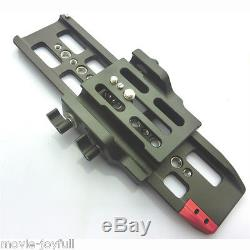 HONTOO 15mm Quick release baseplate 10 dovetail plate rods for DSLR HDV support