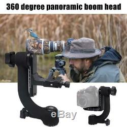 Heavy Duty Gimbal Tripod Head WithQuick Release Plate Heavy DSLR Telephoto Camera