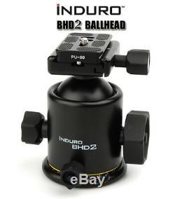 Induro BHD2 Magnesium Dual-Action Ballhead Tripod With PU-60 QR PLATE- 40LBS MAX