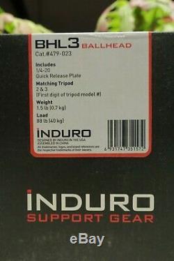 Induro BHL3 Ball Head+Plate, Nature Landscape Macro, Tripod Monopod, BHL3S, NEW