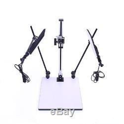 Led Copy Stand Two Lights Fitting Quick Release Plate For Dslr Macro Copystand