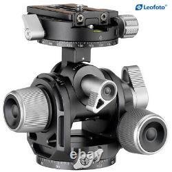 Leofoto G4 Panoramic Geared Head Professional Head Tripod Low Profile w QR Plate