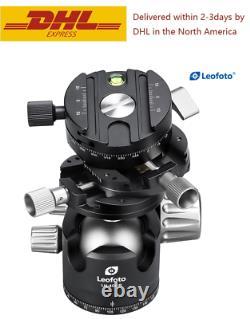 Leofoto LH-40 GR Panorama Geared Ball Head with QR Plate for Arca Swiss Tripod