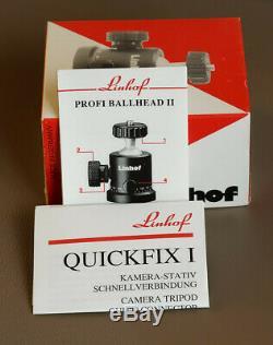 Linhof Profi Ballhead II Tripod Head Made in Germany with Quickfix I + 3 plates