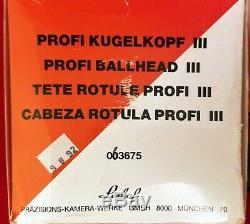 Linhof Profi lll Ball Head with QuickFix plate 3854 NOS UNUSED in original boxes