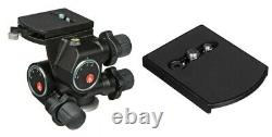 MANFROTTO 410 3-WAY, PAN-&-TILT HEAD KIT with TWO (2) 410PL QUICK RELEASE PLATES