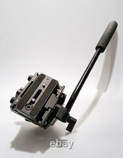 MANFROTTO 561B Monopod Video Head + Pan Handle + Quick-Release Plate. Excellent