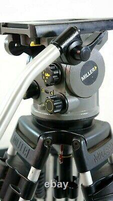 MILLER ARROW 1010 TRIPOD SYS MID-LEV SPR TEL-BAR PLATE 3 FEET BAG SERVICED 33Lbs
