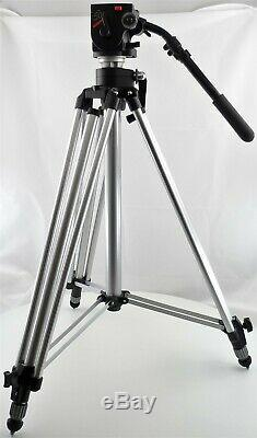 Manfrotto 3046 Tripod with 501 Fluid Video Head, 501PL/VCT-U14 Plates and Case