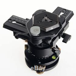 Manfrotto 3415 Panoramic Head, Leveling Base, Dual Sliding Plates, Quick Release